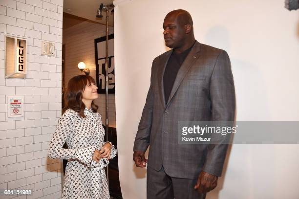 Rashida Jones and Shaquille O'Neal attend the Turner Upfront 2017 green room at Lugo Cucina Italiana on May 17 2017 in New York City 26617_005
