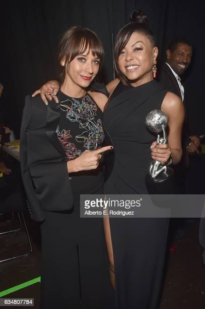 Rashida Jones and Taraji P Henson attend the 48th NAACP Image Awards at Pasadena Civic Auditorium on February 11 2017 in Pasadena California