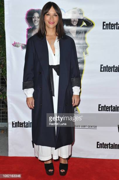 Rashida Jones arrives at opening night of 'Sell/Buy/Date' at the Los Angeles LGBT Center on October 14 2018 in Los Angeles California