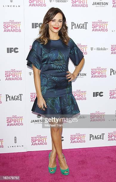 Rashida Jones arrives at the 2013 Film Independent Spirit Awards held on February 23 2013 in Santa Monica California