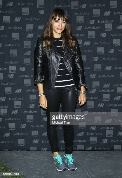 Rashida Jones arrives at the dance party with New Balance and James Jeans powered by ISKO held at a private residence on August 19 2014 in Beverly...