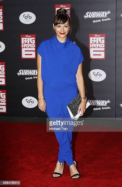 Rashida Jones arrives at the Los Angeles premiere of Big Hero 6 held at the El Capitan Theatre on November 4 2014 in Hollywood California