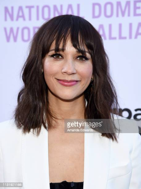 """Rashida Jones arrives at the National Domestic Workers Alliance Celebrates """"ROMA"""" event at The Jane Club on February 24, 2019 in Los Angeles,..."""
