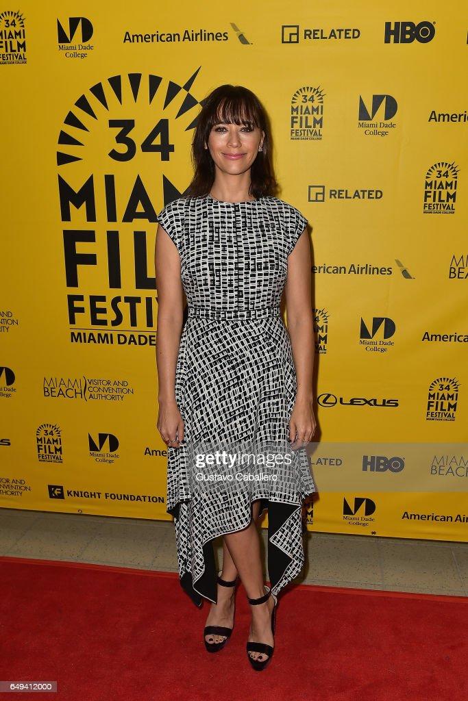 Rashida Jones attends Miami Film Festival on March 7, 2017 in Miami, Florida.