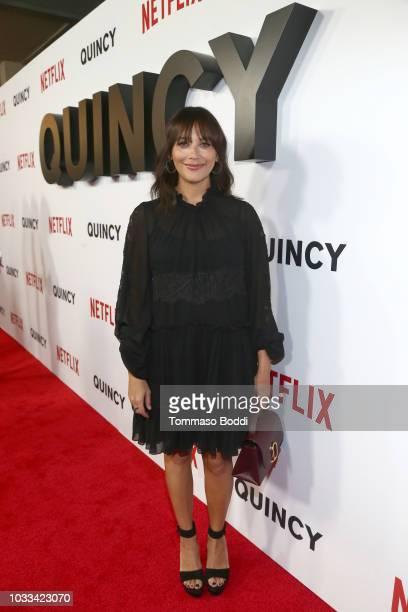 "Rashida Jones attends Netflix's ""Quincy"" Los Angeles Special Screening at Linwood Dunn Theater on September 14, 2018 in Los Angeles, California."