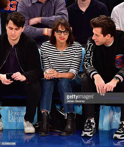 Rashida Jones attends New York Knicks vs Charlotte Hornets game at Madison Square Garden on November 25 2016 in New York City