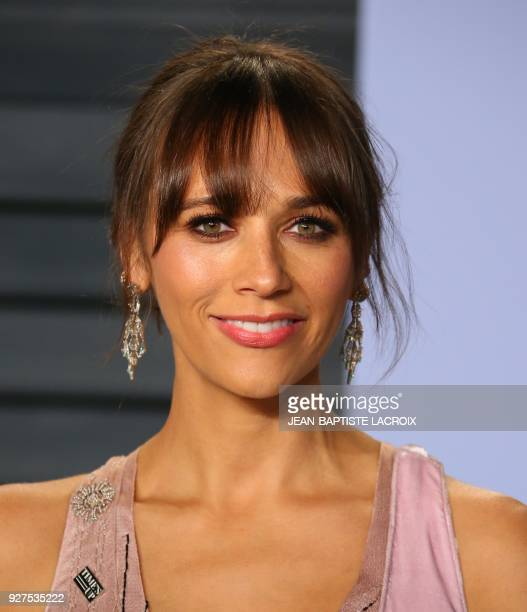 Rashida Jones attends the 2018 Vanity Fair Oscar Party following the 90th Academy Awards at The Wallis Annenberg Center for the Performing Arts in...