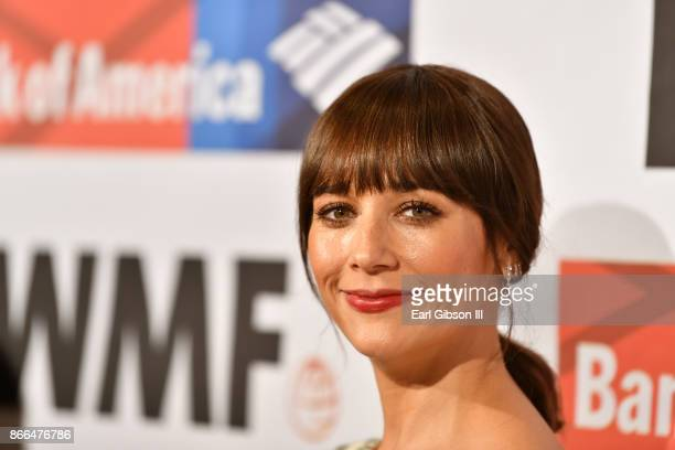 Rashida Jones attends the International Women's Media Foundation 2017 Courage In Journalism Awards at NeueHouse Hollywood on October 25 2017 in Los...