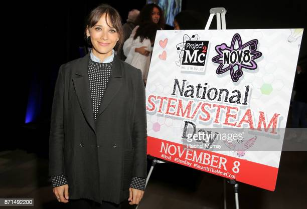 Rashida Jones attends the MGA Entertainment Cast of Netflix's Project Mc2 and Rashida Jones celebration of National STEAM Day and the premiere of...