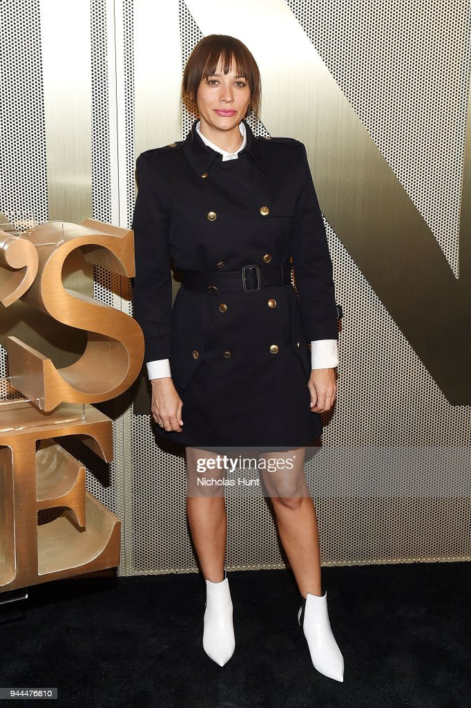Rashida Jones attends the Nordstrom Men's NYC Store Opening on April 10, 2018 in New York City.