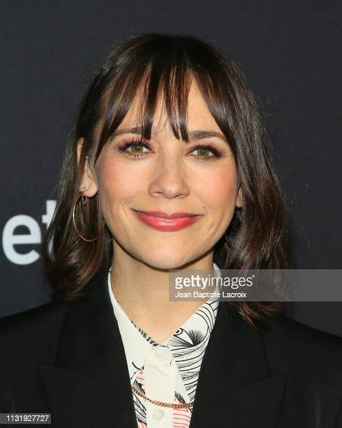 Rashida Jones attends the Paley Center For Media's 2019 PaleyFest LA Parks And Recreation 10th Anniversary Reunion held at the Dolby Theater on March...