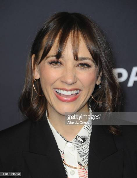 Rashida Jones attends The Paley Center For Media's 2019 PaleyFest LA Parks And Recreation 10th Anniversary Reunion held at Dolby Theatre on March 21...