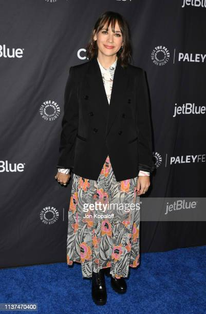 Rashida Jones attends The Paley Center For Media's 2019 PaleyFest LA Parks And Recreation 10th Anniversary Reunion at Dolby Theatre on March 21 2019...