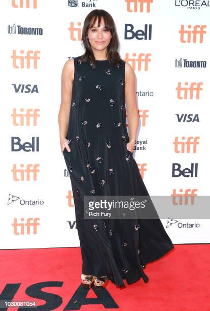 Rashida Jones attends the Quincy red carpet premiere on September 9 2018 in Toronto Canada