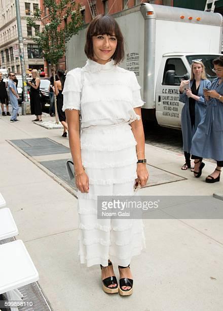 Rashida Jones attends the Rachel Comey fashion show during New York Fashion Week September 2016 on September 7 2016 in New York City
