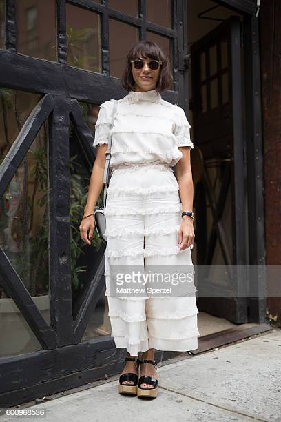 Rashida Jones is seen attending Rachel Comey during New York Fashion Week S/S 2017 on September 7 2016 in New York City