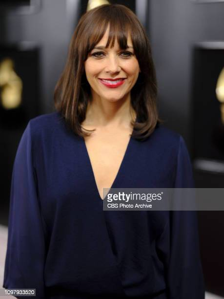 Rashida Jones is seen on the red carpet at THE 61ST ANNUAL GRAMMY AWARDS, broadcast live from the STAPLES Center in Los Angeles, Sunday, Feb. 10 on...