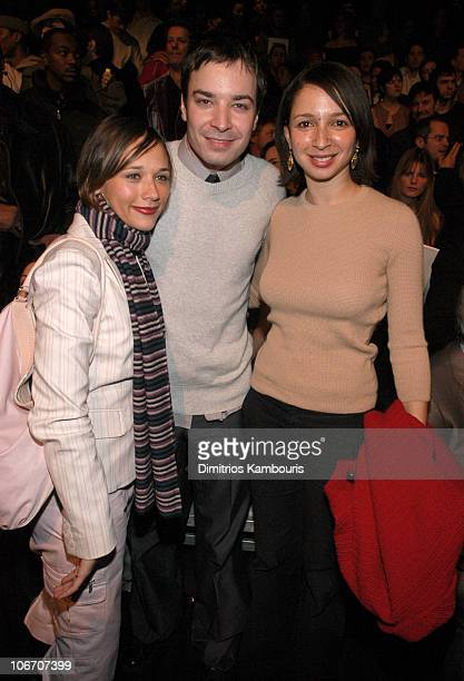 Rashida Jones Jimmy Fallon and Maya Rudolph during MercedesBenz Fashion Week Fall 2003 Collections Marc Jacobs Front Row and Backstage at New York...