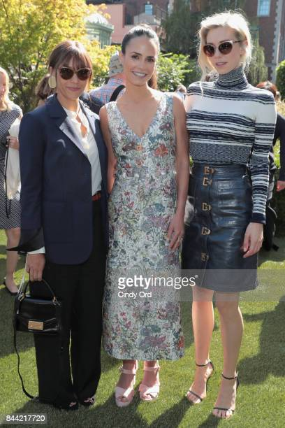 Rashida Jones Jordana Bewster and Vanessa Kirby attend the Tory Burch Spring Summer 2018 Fashion Show at Cooper Hewitt Smithsonian Design Museum on...
