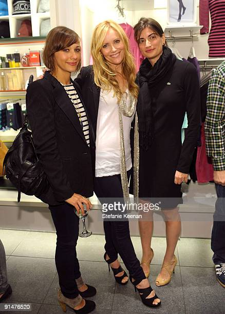 Rashida Jones Leslie Mann and Daniela Bocresion attend the launch of the 2009 Pink Croc Collection to benefit the Breast Cancer Research Foundation...
