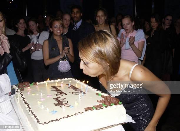 Rashida Jones makes a birthday wish at her birthday party at the GQ Lounge