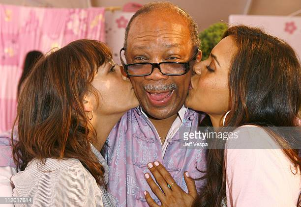 Rashida Jones Quincy Jones and Kidada Jones during Kidada Jones Hosts Kidada for Disney Coutour Party at Private Residence in Bel Air California...