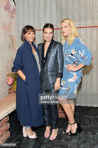 Rashida Jones Rachel Comey and Busy Phillips attend Rachel Comey Los Angeles Store Opening on June 15 2016 in Los Angeles California