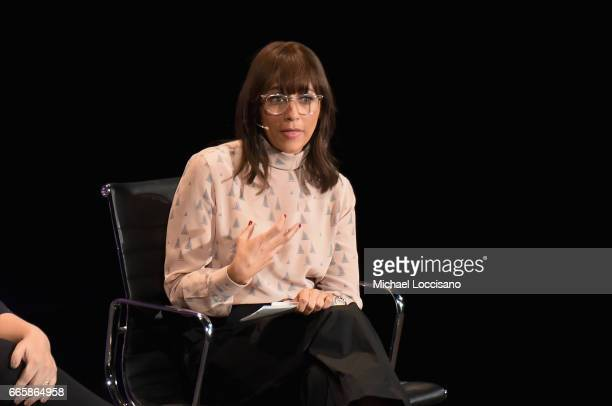 Rashida Jones speaks during the Eighth Annual Women In The World Summit at Lincoln Center for the Performing Arts on April 7 2017 in New York City