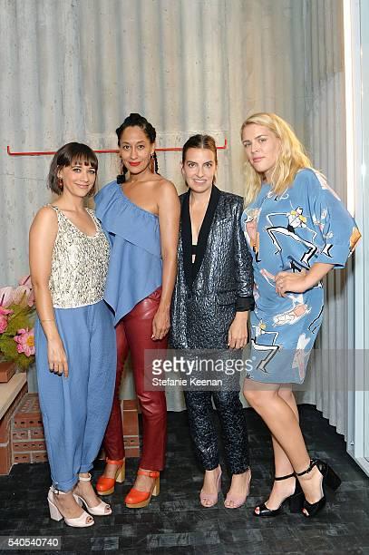 Rashida Jones Tracee Ellis Ross Rachel Comey and Busy Phillips attend Rachel Comey Los Angeles Store Opening on June 15 2016 in Los Angeles California