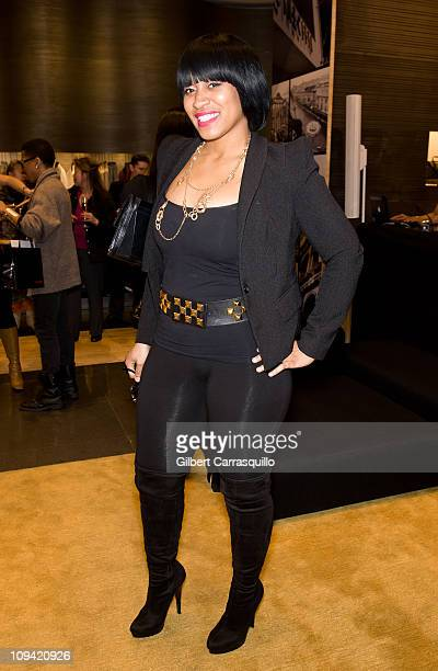 Rashidah Ali owner of Bourgeoisie Shoetique attends the PNK Dress Charity Foundation launch at the Fendi 5th Avenue Boutique on February 24 2011 in...