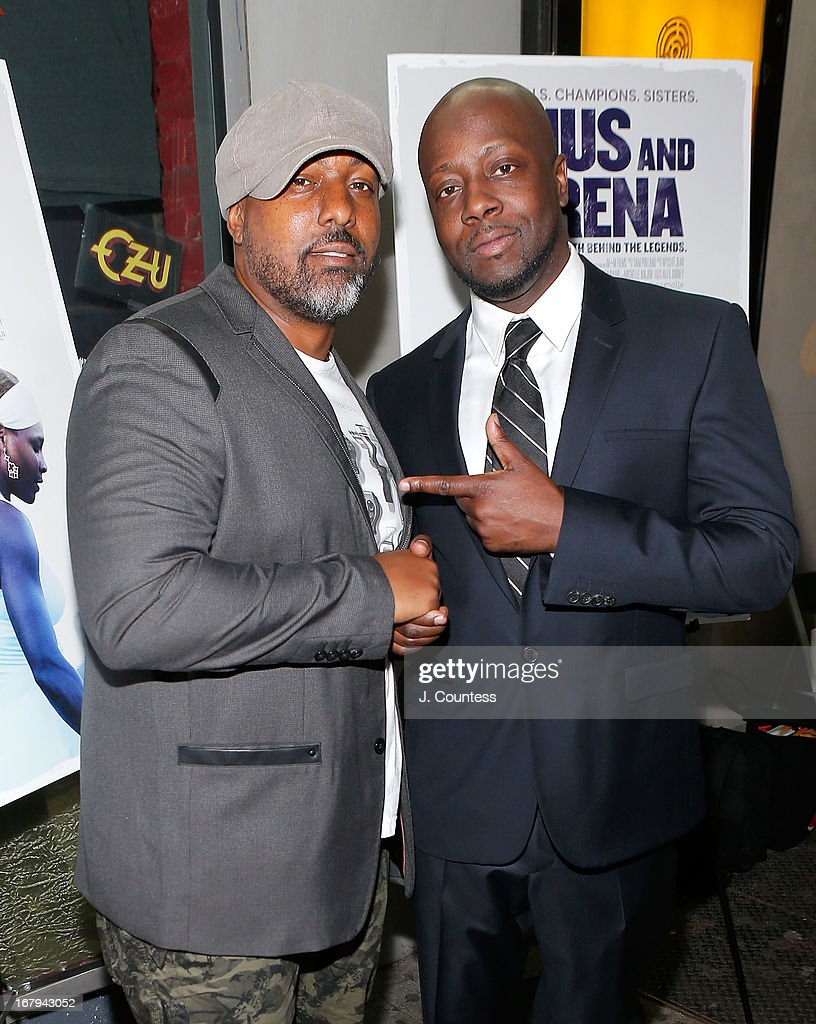 Rashidi Harper and musician Wyclef John attend the New York screening of 'Venus and Serena' at IFC Center on May 2, 2013 in New York City.