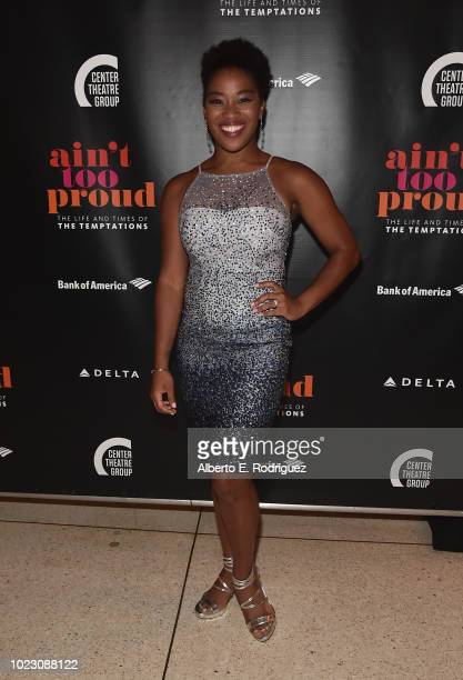 Rashidra Scott attends the after party for the Opening Night of Ain't Too Proud The Life And Times Of The Temptations at the Dorothy Chandler...