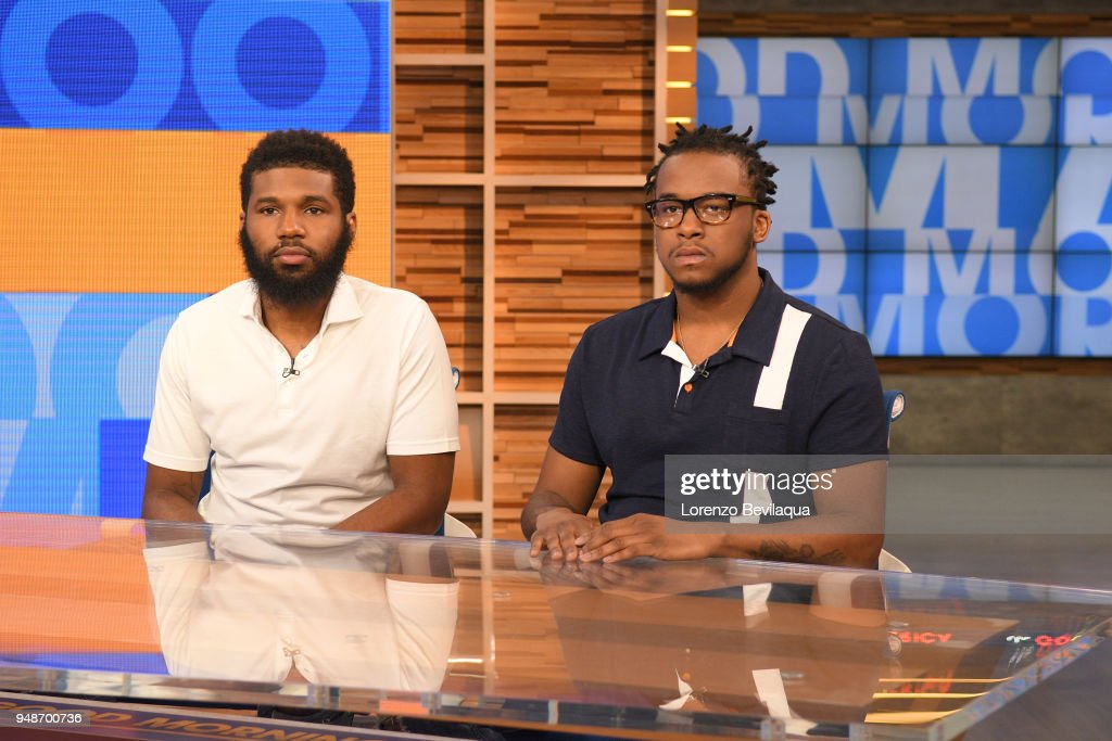 AMERICA - Rashon Nelson and Donte Robinson, the two men arrested at a Starbucks, tell their story on 'Good Morning America,' Thursday, April 19, 2018, airing on the ABC Television Network. RASHON