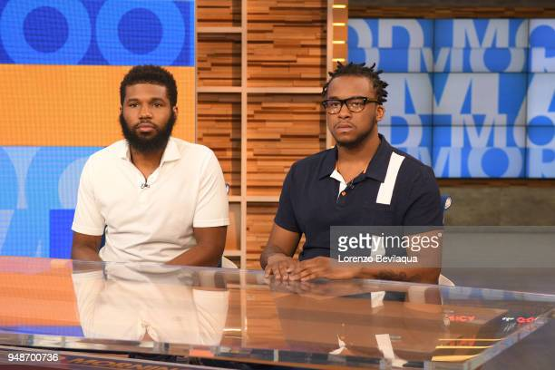 AMERICA Rashon Nelson and Donte Robinson the two men arrested at a Starbucks tell their story on 'Good Morning America' Thursday April 19 airing on...