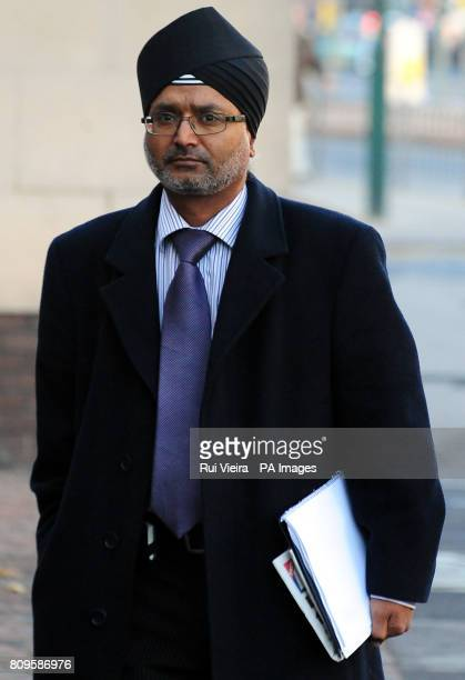 Rashpal Chana arrives at Nottingham Crown Court as he and his former partner Eva Logina are accused of the manslaughter of their twoyearold daughter...