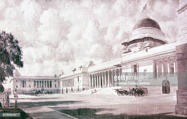 Rashtrapati Bhavan the Viceroy of India's House designed by Lutyens 1947