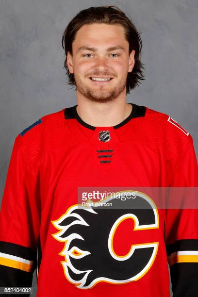 Rasmus Andersson of the Calgary Flames poses for his official headshot for the 20172018 season on July 4 2017 at the WinSport Markin MacPhail Centre...