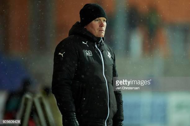 Rasmus Bertelsen head coach of Randers FC looks on during the Danish Alka Superliga match between Randers FC and FC Helsingor at BioNutria Park...