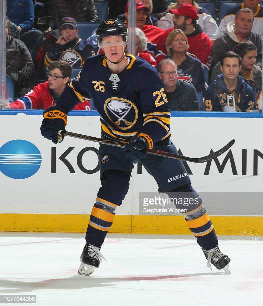 e18dc4d47 Rasmus Dahlin of the Buffalo Sabres skates during an NHL game against the Montreal  Canadiens on