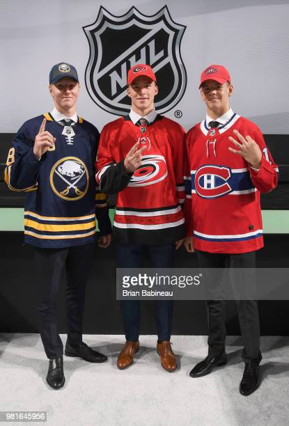 Rasmus Dahlin selected first overall by the Buffalo Sabres Andrei Svechnikov selected second overall by the Carolina Hurricanes and Jesperi...