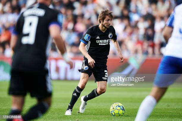 Rasmus Falk of FC Copenhagen in action during the Danish 3F Superliga match between OB Odense and FC Copenhagen at Nature Energy Park on August 01,...