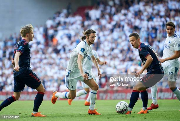 Rasmus Falk of FC Copenhagen in action during the Danish Alka Superliga Europa League Playoff match between FC Copenhagen and AGF Aarhus at Telia...