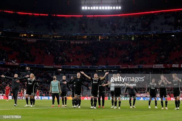 Rasmus Kristensen of Ajax Kasper Dolberg of Ajax Carel Eiting of Ajax Kostas Lamprou of Ajax Donny van de Beek of Ajax Maximilian Wober of Ajax Lasse...