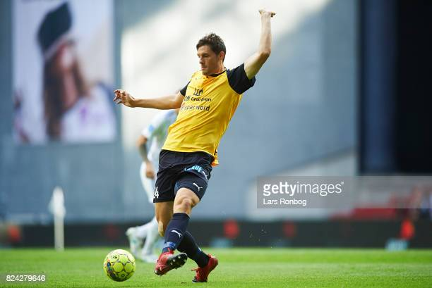 Rasmus Minor Petersen of Hobro IK in action during the Danish Alka Superliga match between FC Copenhagen and Hobro IK at Telia Parken Stadium on July...