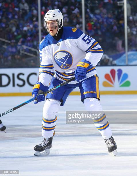 Rasmus Ristolainen of the Buffalo Sabres skates against the New York Rangers during the 2018 Bridgestone NHL Winter Classic at Citi Field on January...