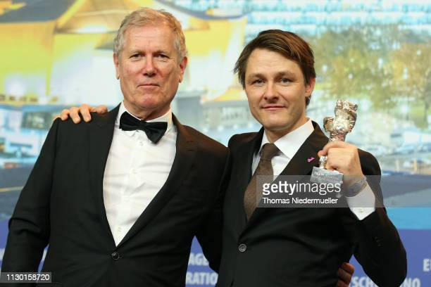 Rasmus Videbaek winner of the Silver Bear for an Outstanding Artistic Contribution in the categories camera for 'Out Stealing Horses' and Director...