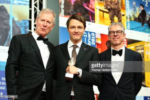Rasmus Videbaek winner of the Silver Bear for an Outstanding Artistic Contribution in the categories camera for 'Out Stealing Horses' Director Hans...