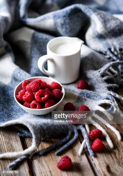 raspberry and milk