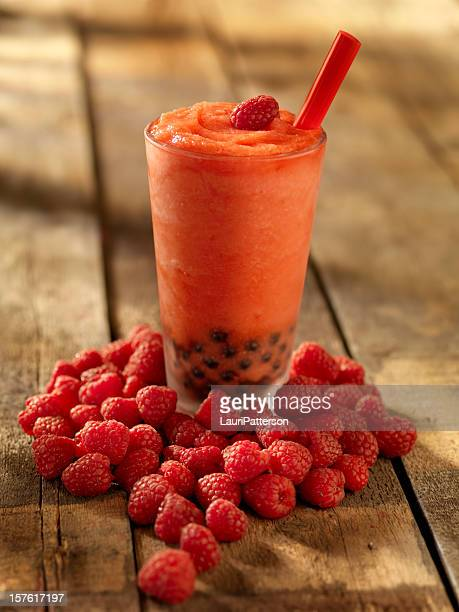 Raspberry Bubble Tea Smoothie
