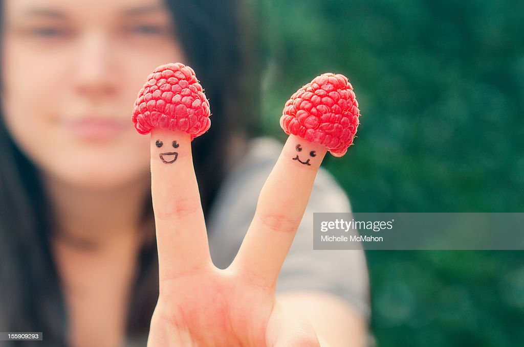 Raspberry Hats : Stock Photo